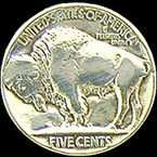 Buffalo Nickel Golf Ball Marker