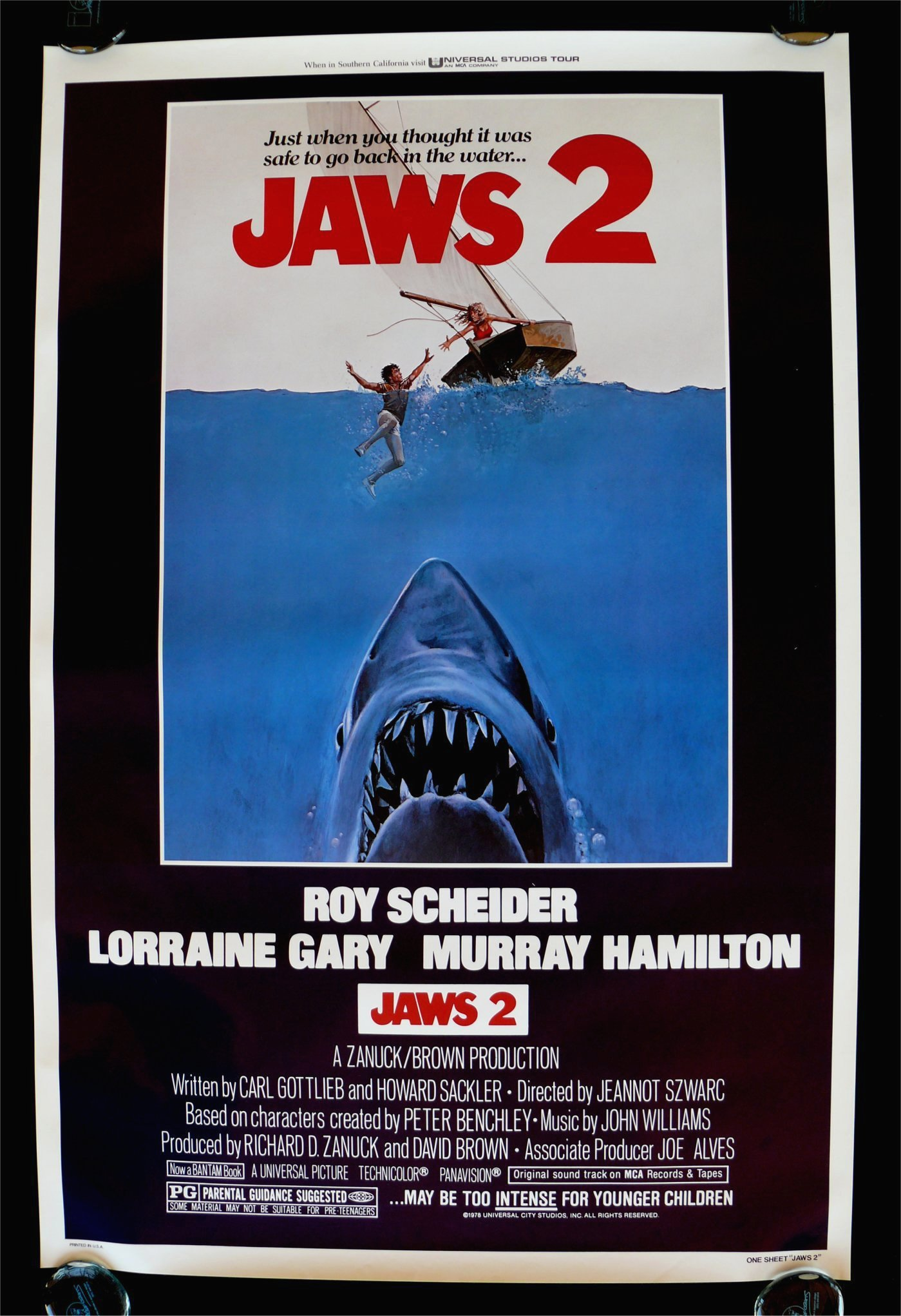 jaws 2 1sh orig movie poster rare unreleased version